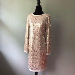 Eliza J Sequined Long Sleeve Dress